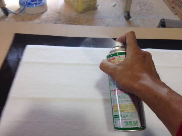 ガラスクロス貼り方2