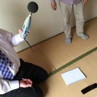 床の音を実験しました