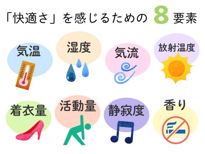 「快適さ」を感じるための8要素