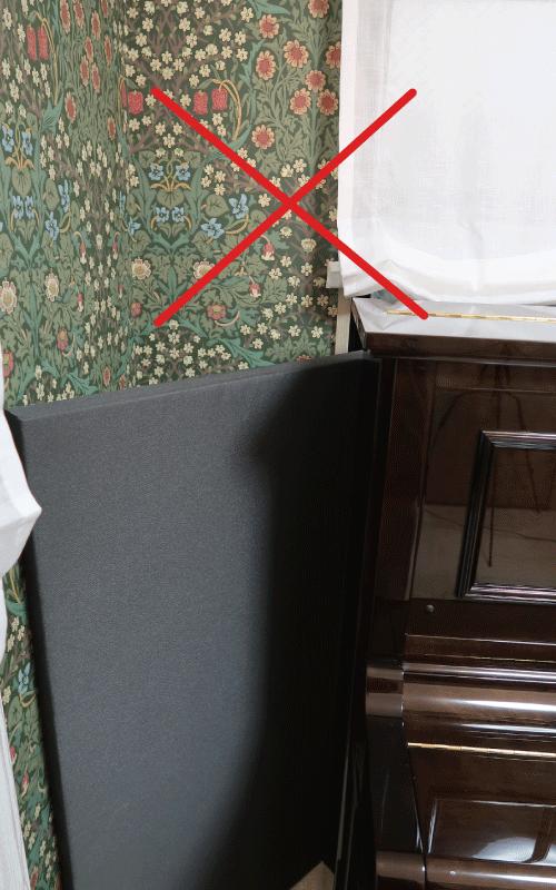 ピアノ用防音パネル設置方法