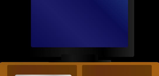 テレビ台の上にスピーカー