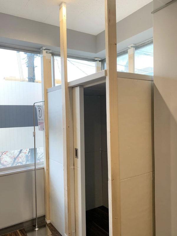 防音パネルで小部屋を作成