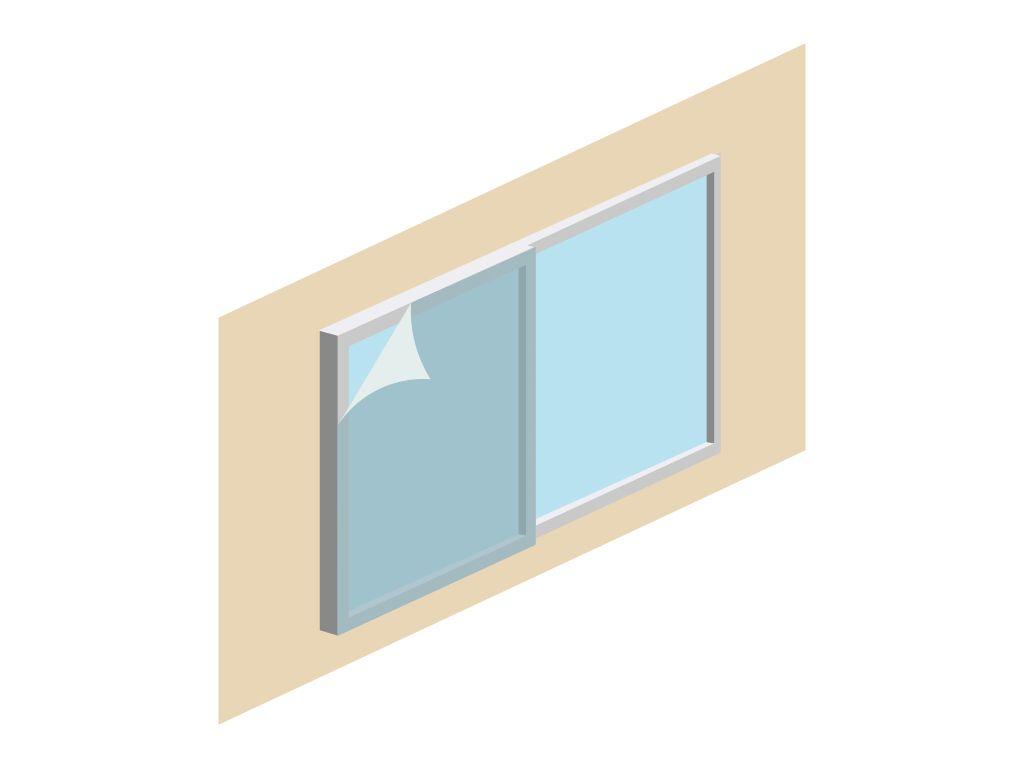二重窓 窓用防音透明シート 熱割れ